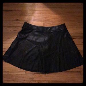 Faux leather miniskirt